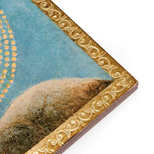 Stampa legno Angelo con Mandolino con cornice 2