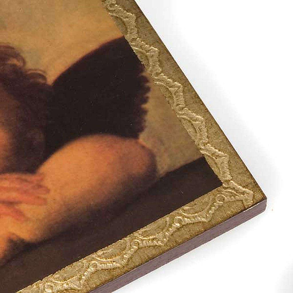 Stampa legno Angeli di Raffaello con cornice 3