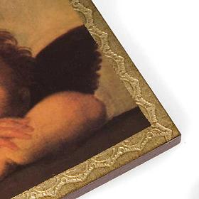 Stampa legno Angeli di Raffaello con cornice s2