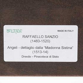 Print on wood, Raffaello's Angels with frame s3
