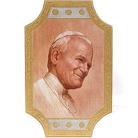 Stampa Giovanni Paolo II legno s1