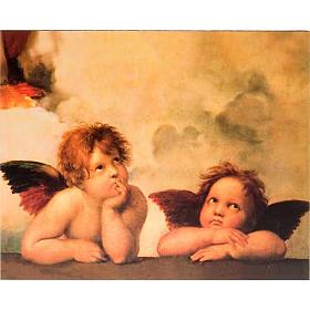 Stampa legno Angeli di Raffaello s1