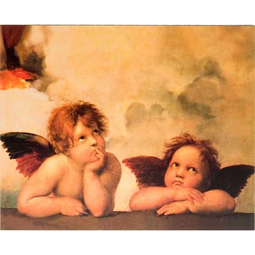 Stampa legno Angeli di Raffaello 1