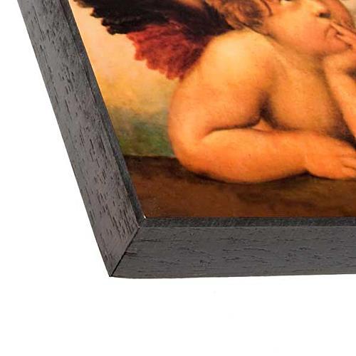 Stampa legno Angeli di Raffaello 2