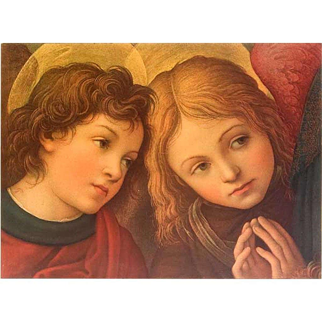 Stampa Angeli su legno 3