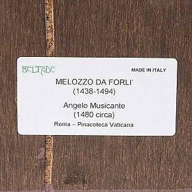 Stampa legno Angelo con Mandolino s3