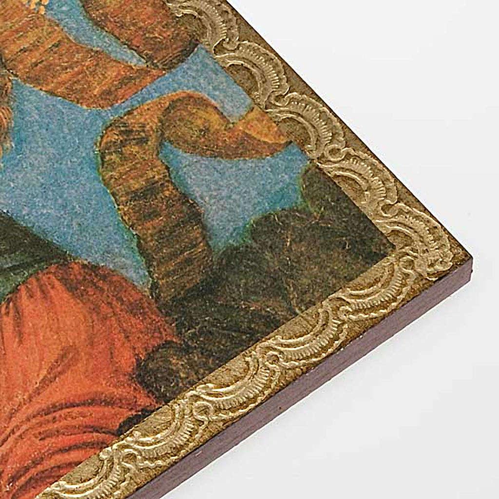 Druk drewno Anioł z Mandoliną 3