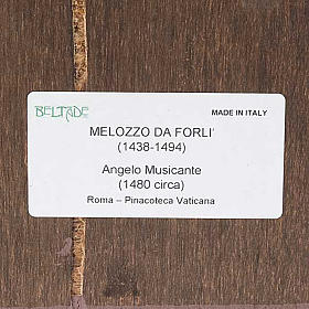 Druk drewno Anioł z Mandoliną s3