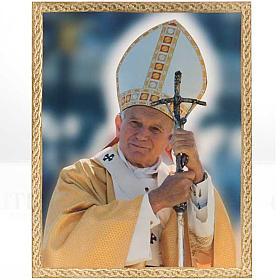 Stampa Papa Giovanni Paolo II con pastorale s1