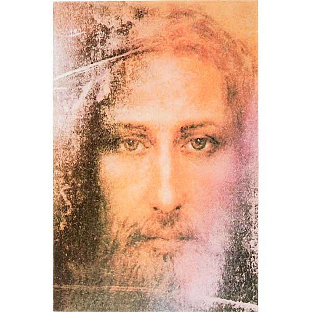 Print on wood, Face of Jesus of the Holy Shroud 3