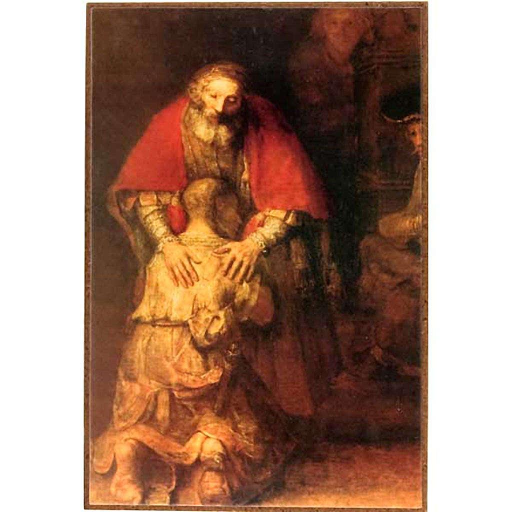 Fils prodigue de Rembrandt impression sur bois 3