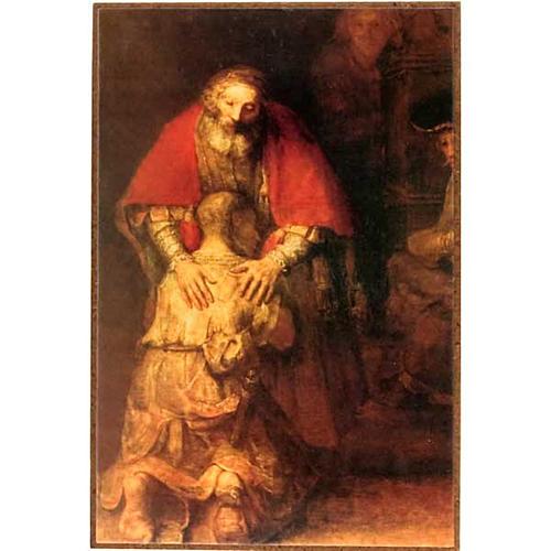 Fils prodigue de Rembrandt impression sur bois 1