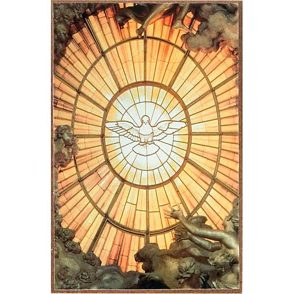 Stampa Spirito Santo in legno da appoggio 3