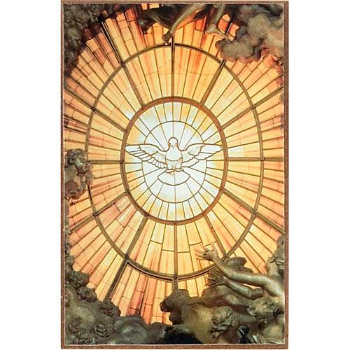 Stampa Spirito Santo in legno da appoggio 1