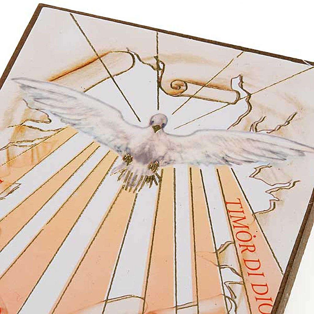 Estampa en madera Espíritu Santo con rayos 3