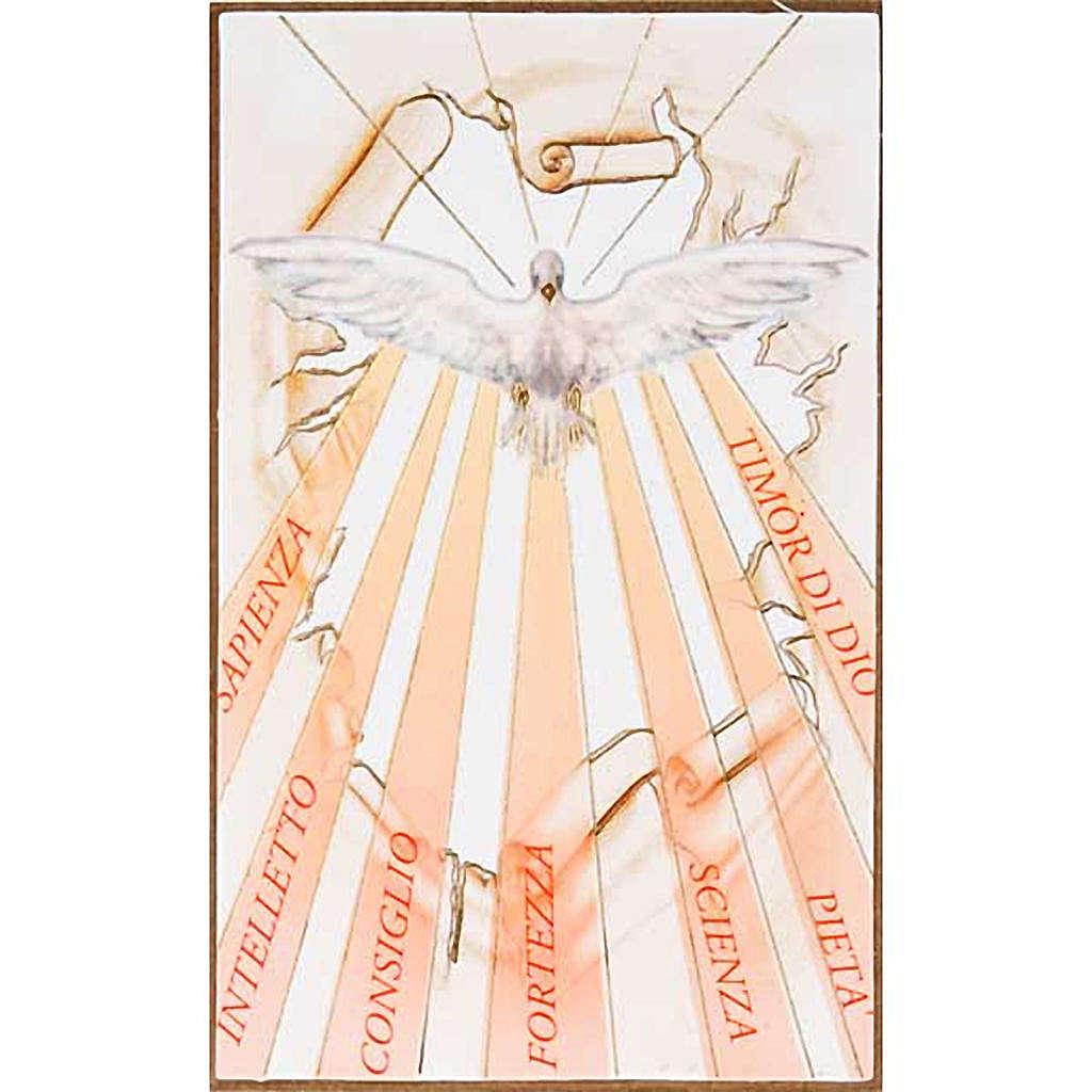 Impression sur bois Saint-Esprit avec rayons 3