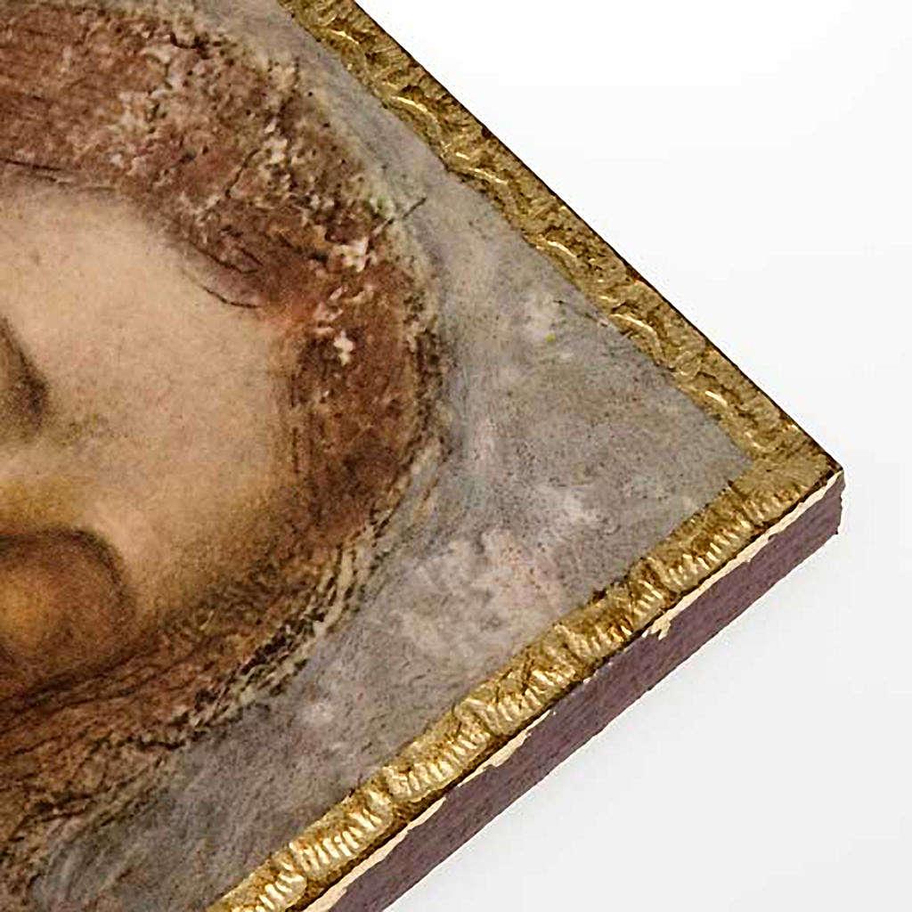 Druk 'Odkupiciel' Leonarda na drewnie 3