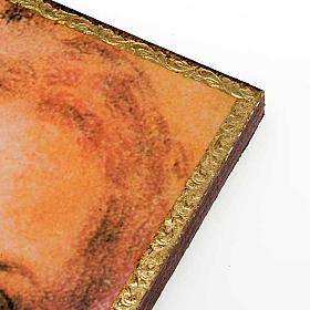 Druckbild Gesicht des Leichentuches Christi mit Rahmen s2