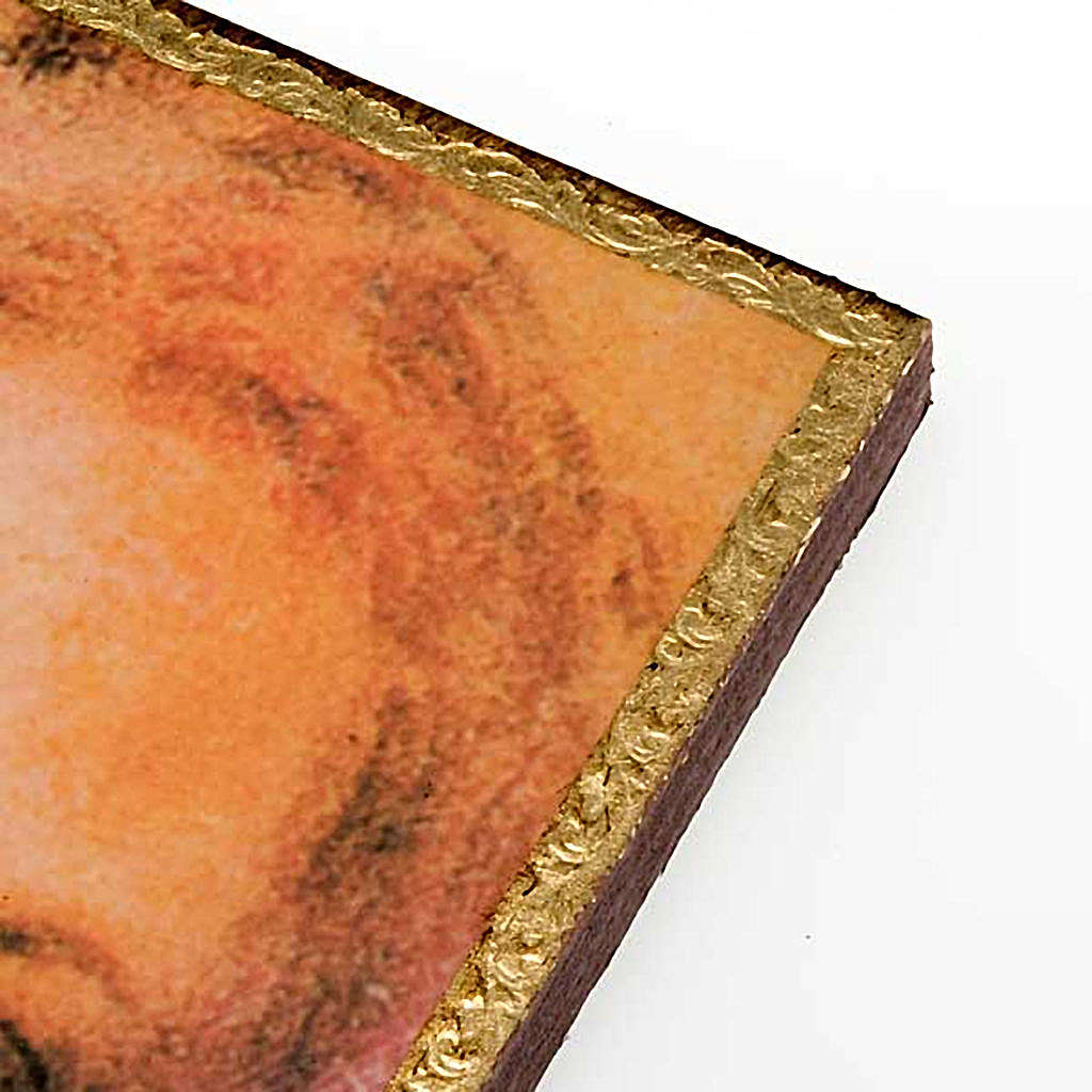 Print on wood, Face of Jesus of the Shroud with frame 3