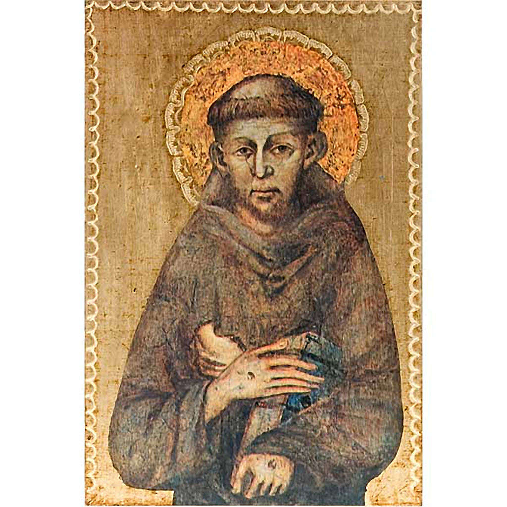 Print Saint Francis of Assisi, wooden panel 3