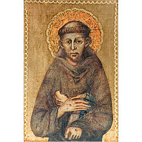 Print Saint Francis of Assisi, wooden panel s1