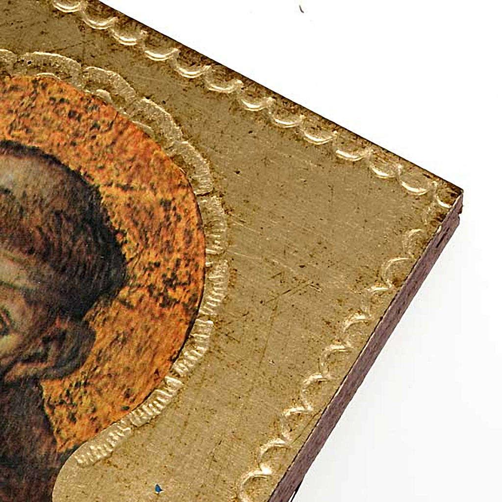 Stampa San Francesco d'Assisi legno 3