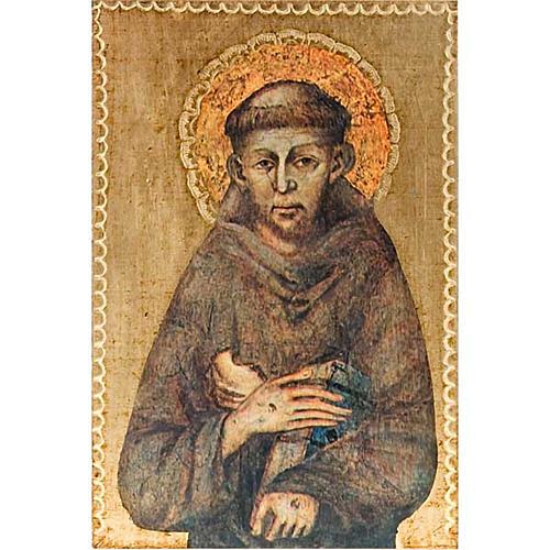Stampa San Francesco d'Assisi legno 1