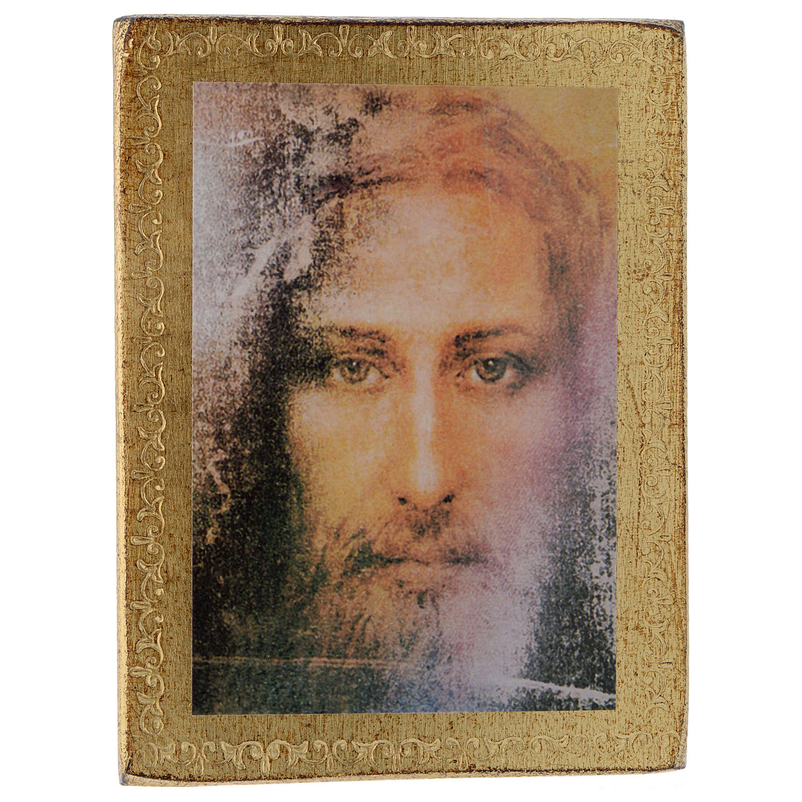 Print on wood, Face of Jesus of the Shroud 3