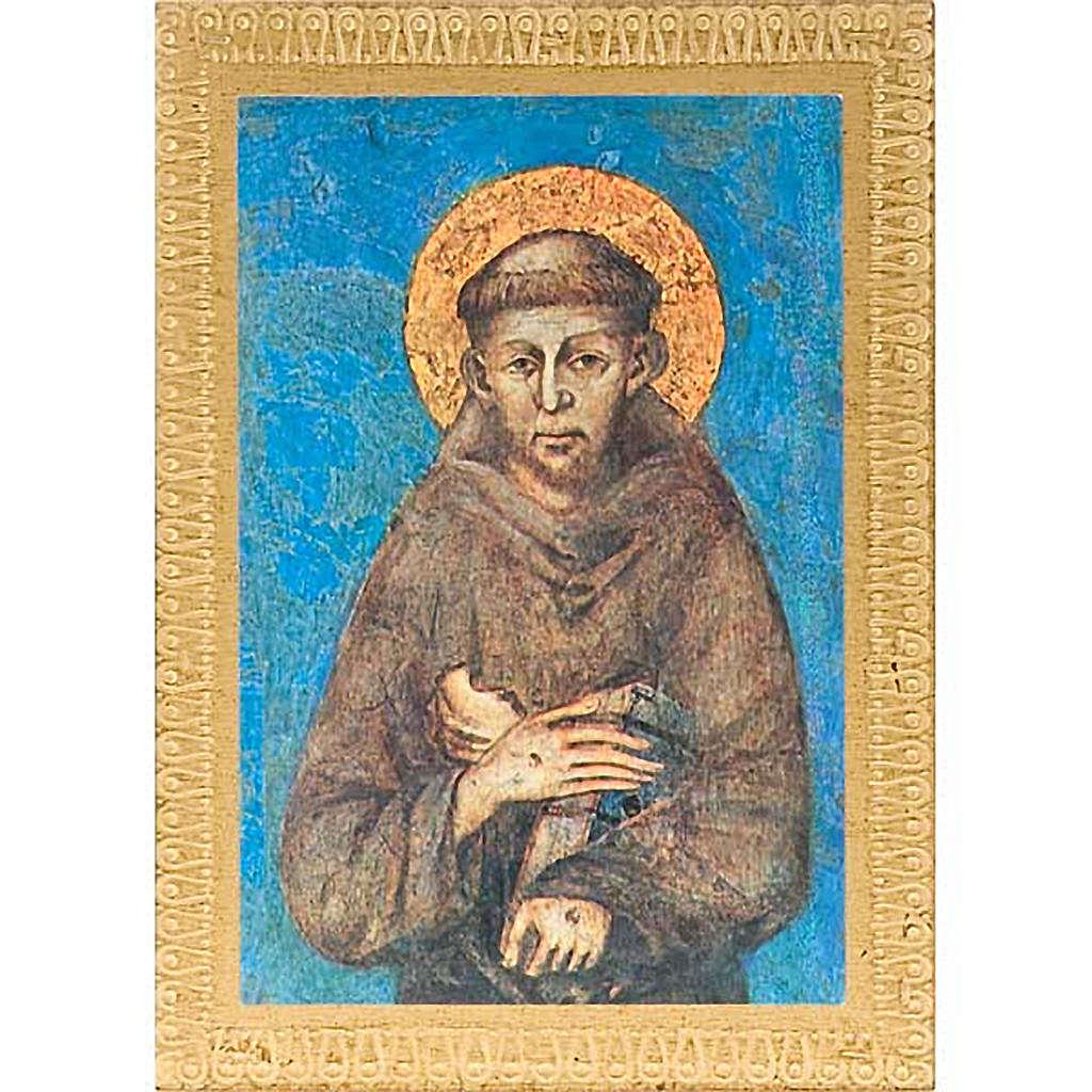 Impression Saint François d'Assise avec cadre décoré 3