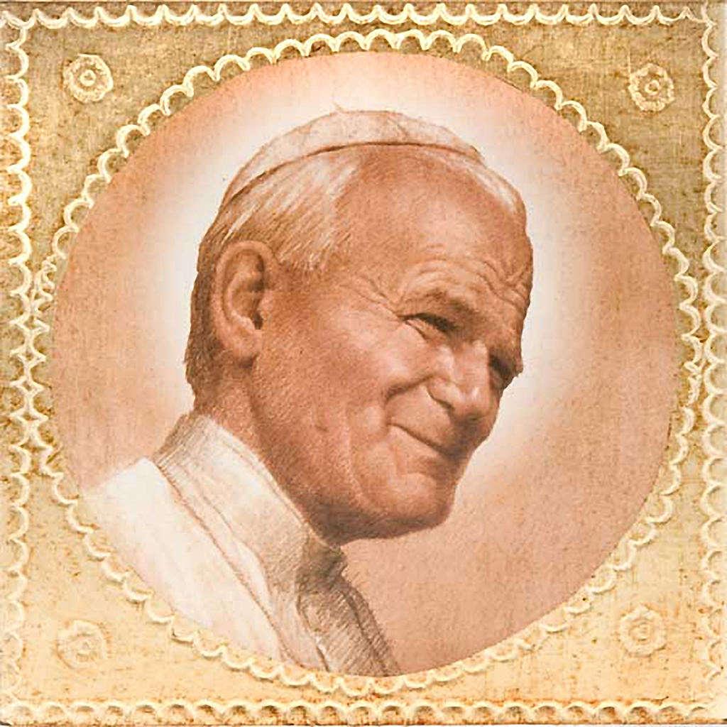 Stampa legno Giovanni Paolo II 3