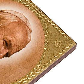 Stampa legno Giovanni Paolo II s2