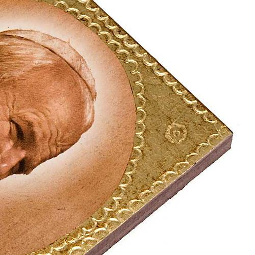Stampa legno Giovanni Paolo II 2