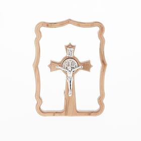 Petit carré croix St. Benoit, pour table s1