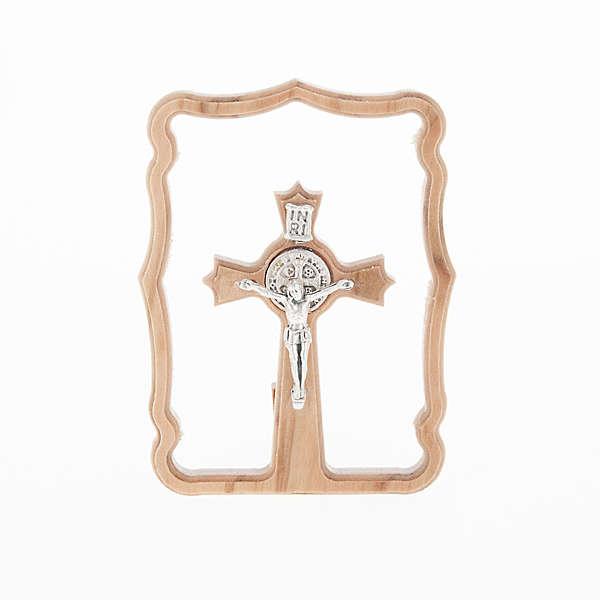 Quadretto da tavolo croce San Benedetto 3
