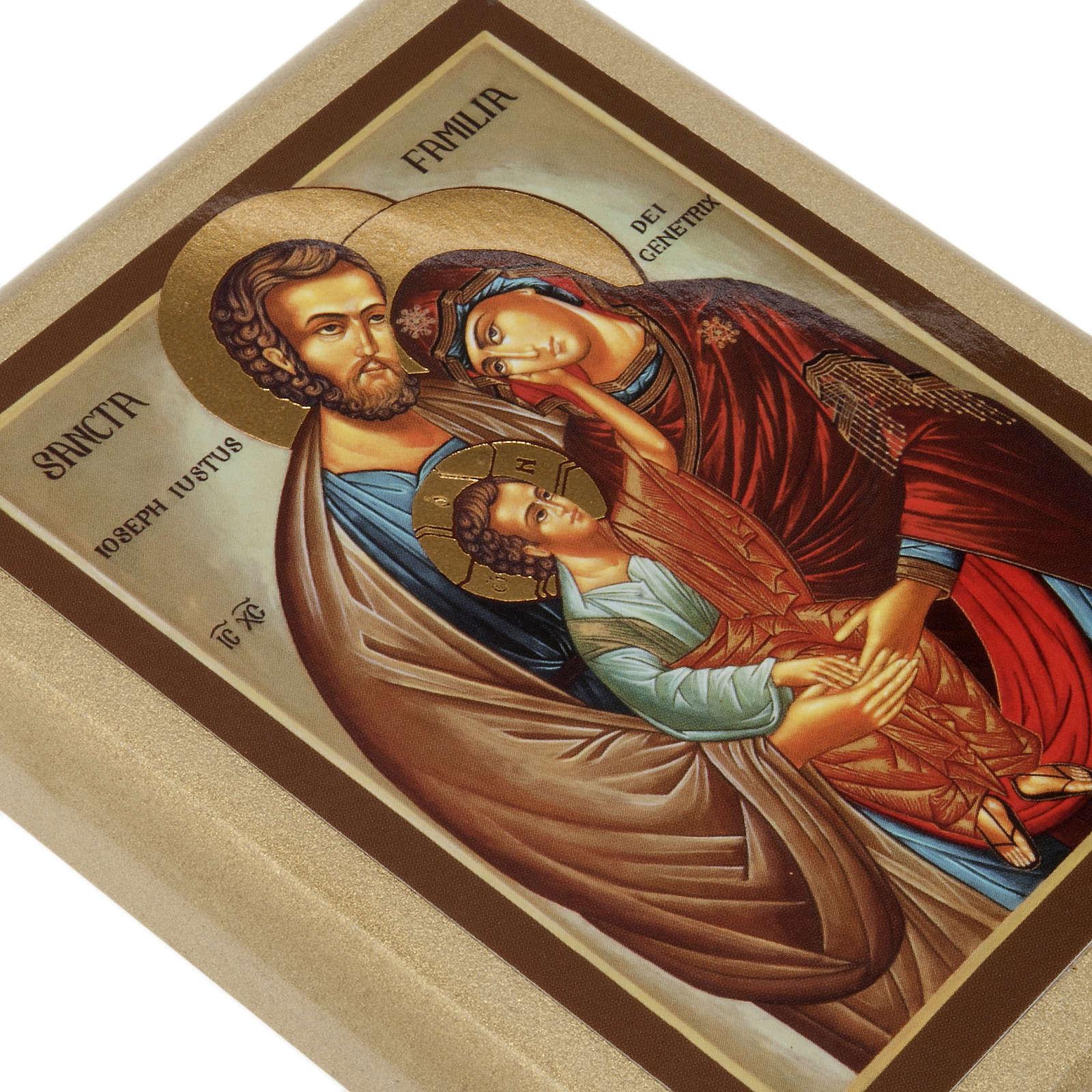 Cuadro Sagrada Familia marco marrón 3