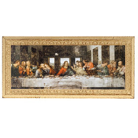 Impressão madeira Última Ceia Leonardo s1