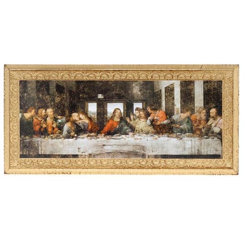 Impressão madeira Última Ceia Leonardo 1
