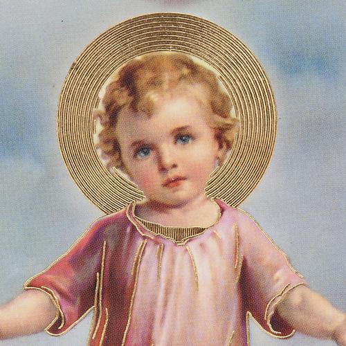 Stampe legno cuore Gesù Bambino 2