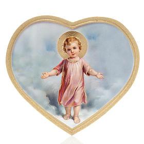 Impressão madeira coração Menino Jesus s1