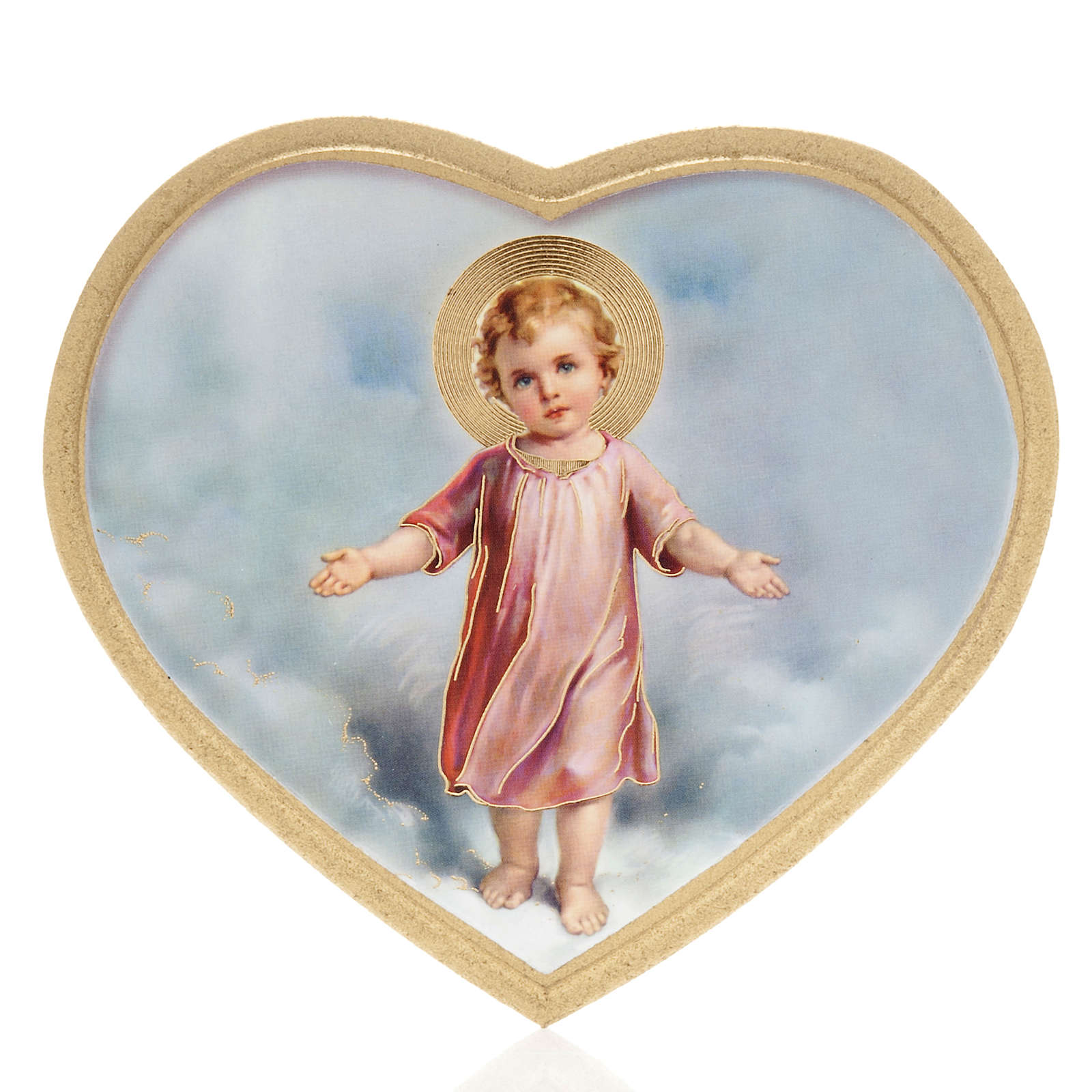 Print on wood, heart shaped with baby Jesus 3