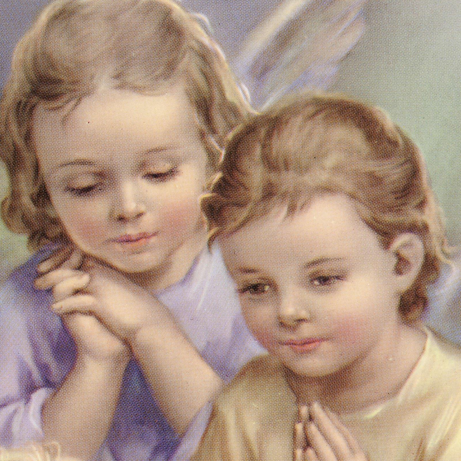 Stampa legno cuore 2 angeli e bimbo 3