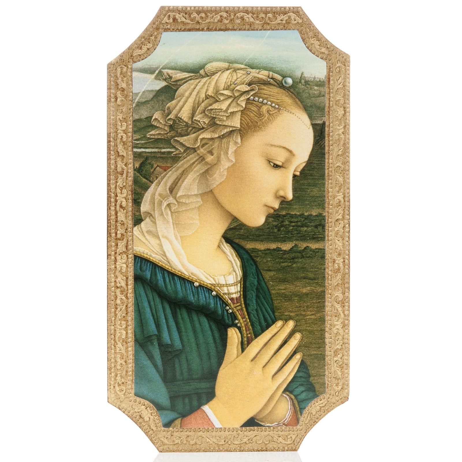Tavola stampata sagomata legno Madonna di Lippi 3