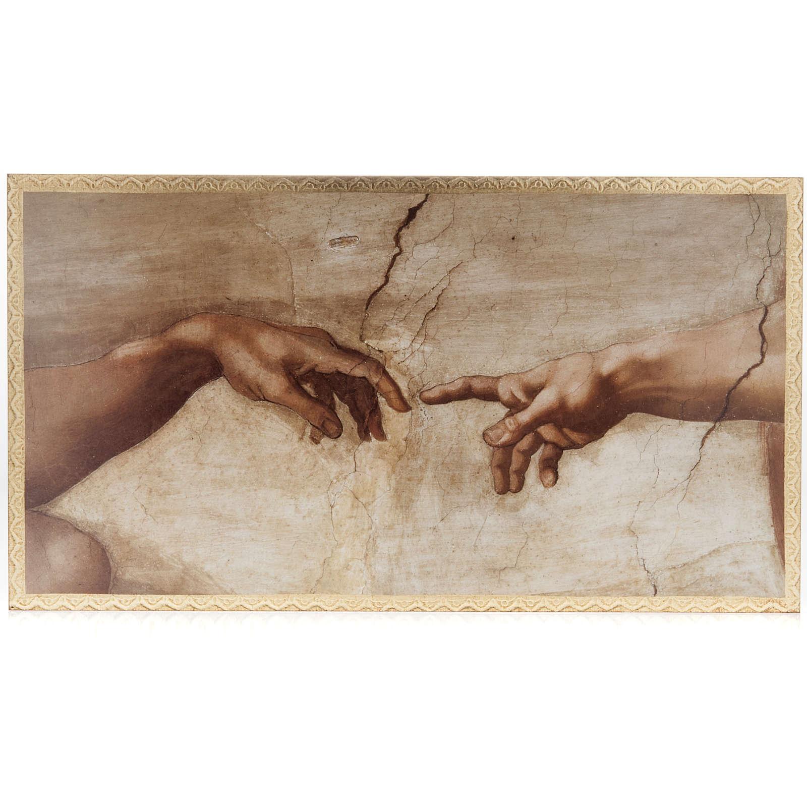 Tavola legno Creazione Cappella Sistina 3