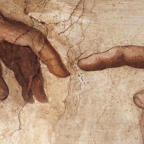 Tavola legno Creazione Cappella Sistina 2