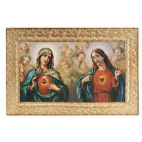 Impressão madeira Sagrado Coração de Jesus e de Maria Morgari s1