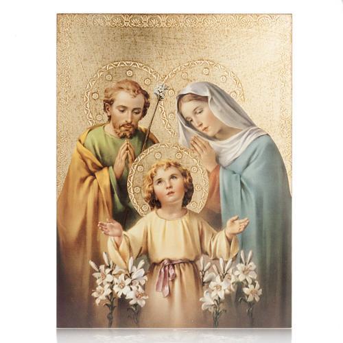 Quadro legno stampa Sacra Famiglia Bellazzi 1
