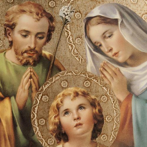 Quadro legno stampa Sacra Famiglia Bellazzi 2