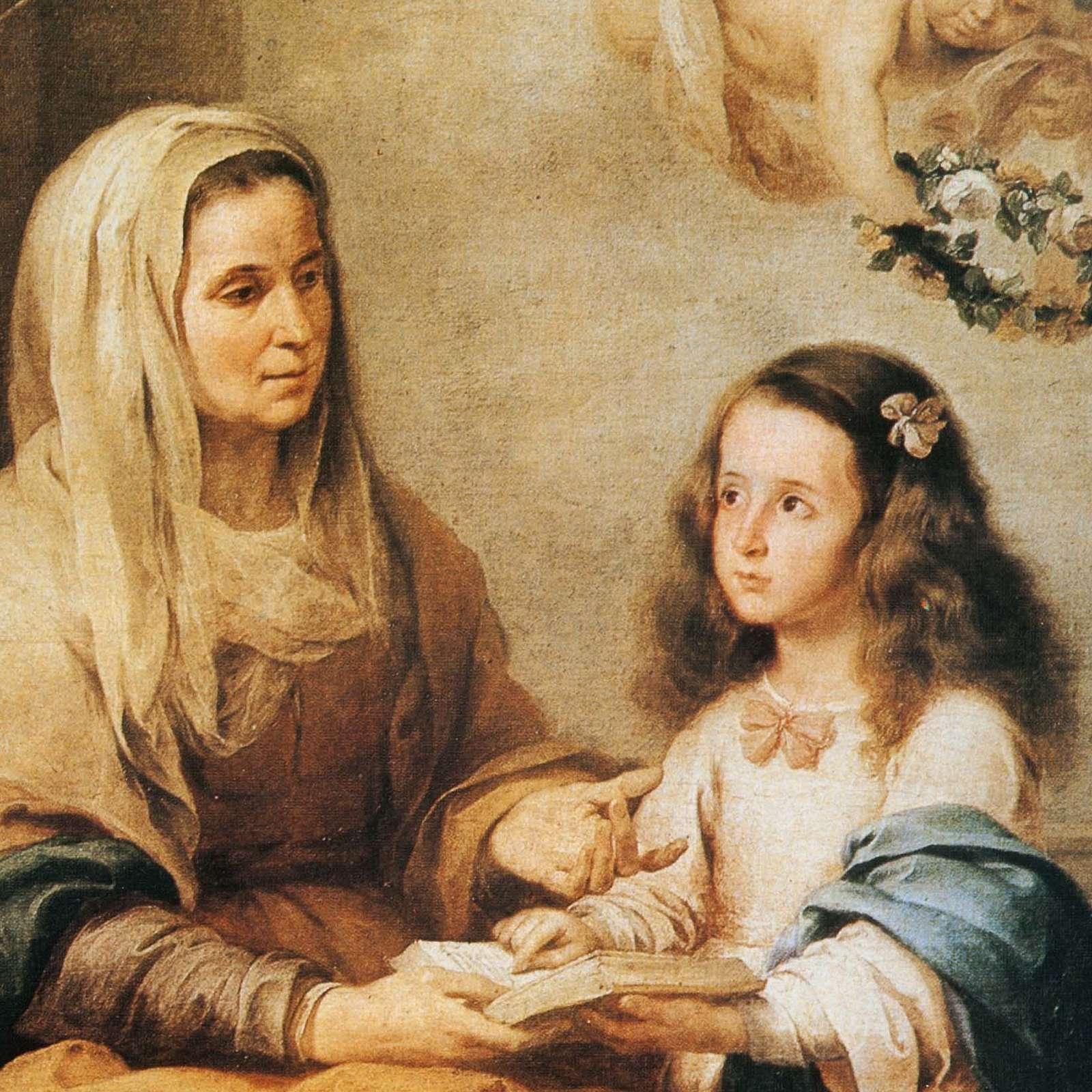 Quadro legno stampa Sant'Anna del Murillo 3
