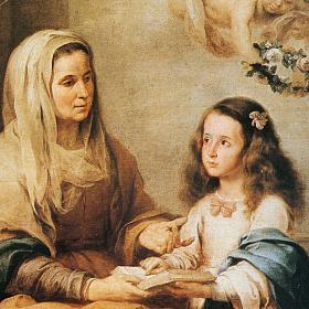 Quadro legno stampa Sant'Anna del Murillo s2