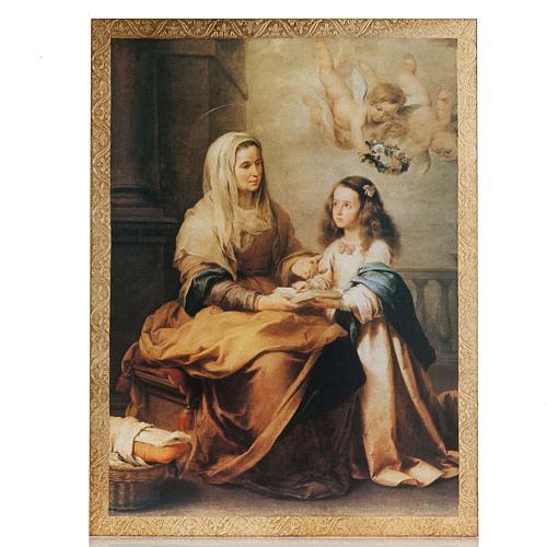 Quadro legno stampa Sant'Anna del Murillo 1